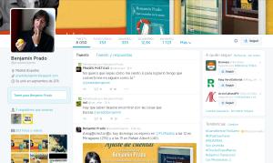 Twitter de Benjamín Prado
