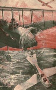 Joseph Alexander Altsheler – The Hosts of the air, ilustración de Charles Wrenn (1920)