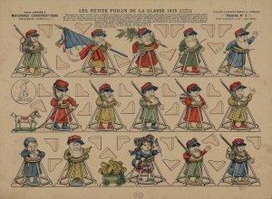 Imagerie d'Épinal – Les Petits Poilus de la classe 1935