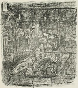 Reinhard Goering – Sea Battle, ilustración de Erich Büttner (1918)