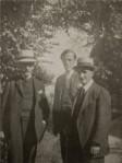 Romain Rolland, Frans Masereel y René Arcos en 1919