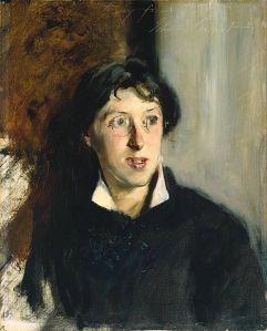 Vernon Lee (Violet Paget), retratada por John Singer Sargent (1881)