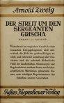 Arnold Zweig - Der Streit um den Sergeanten Grischa (1927)