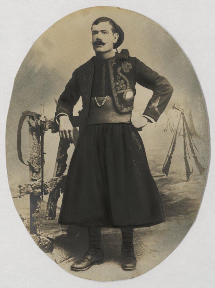 André Campos, tirailleur dans le 1er régiment de zouaves