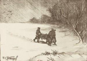 D'Hampol - Le transport des blessés dans les Flandres (1915)