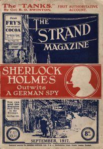 Cubierta del ejemplar del Strand Magazine de septiembre de 1917