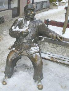 Monumento al Buen Soldado Svejk, en Sanok (Polonia)