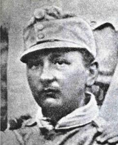 Jaroslav Hašek en 1915, con uniforme austriaco
