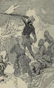 Talbot Mundy – Hira Singh, ilustración de J. Clement Coll (1918).
