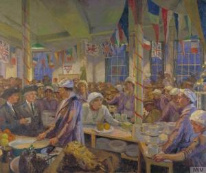 Clare Atwood - Christmas Day in the London Bridge YMCA Canteen (1920)