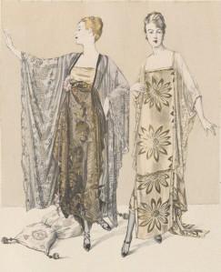 Una ilustración de la revista de moda « Les Élégances parisiennes », mayo de 1917