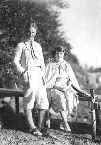 Zelda y Francis Scott Fitzgerald en 1921
