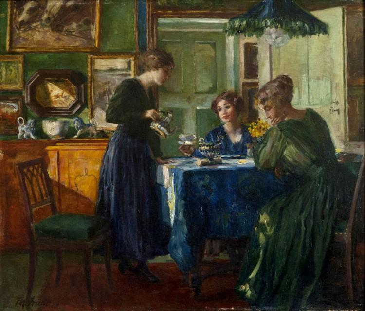 Ferdinand Max Bredt - Desayuno en tiempos de guerra (1918)