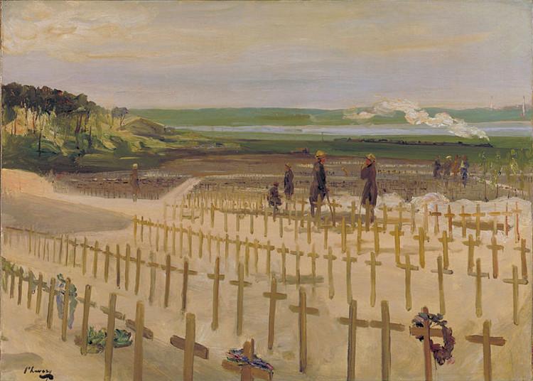 John Lavery – El Cementerio de Étaples (1919)