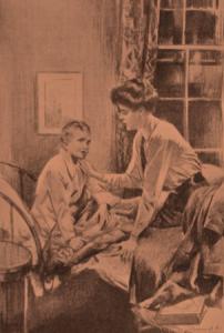 Rudyard Kipling – The Gardener, ilustración de J. Dewar Mills (1926)