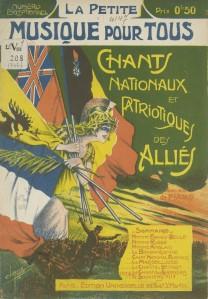 La Petite Musique pour tous, chants nationaux et patriotiques des Alliés, partituras (1914)