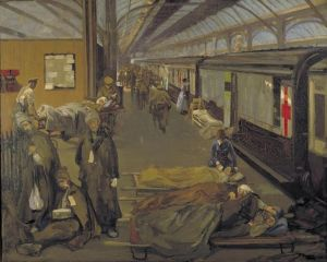 John Lavery - The Wounded at Dover (1918)