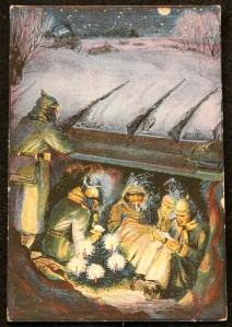 Postal navideña alemana (1915-1916)