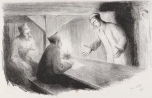 Jean Veber – L'Interrogatoire : le prisonnier.