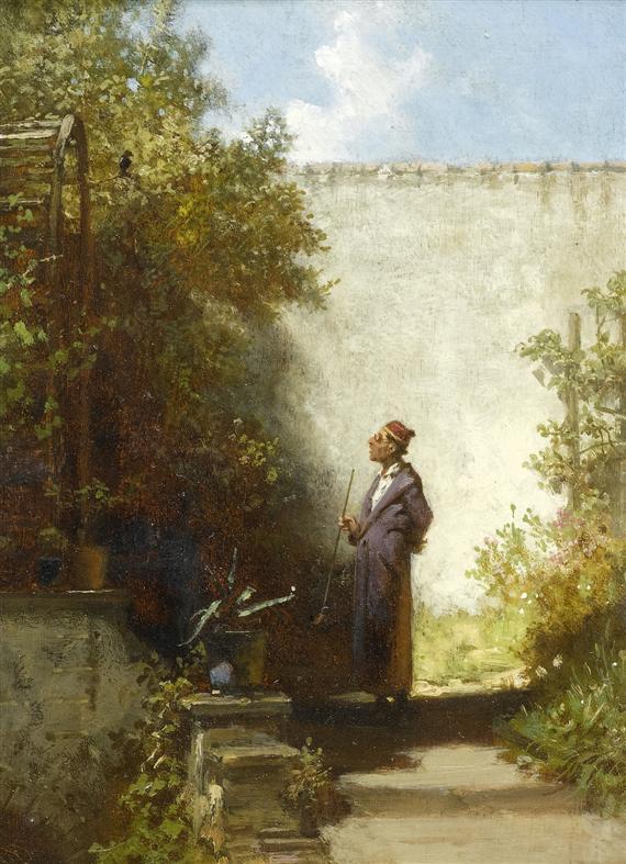 Carl Spitzweg – En el jardín, El Filósofo (1850-1855)