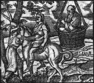 Aristófanes – Las Nubes, ilustración extraída de «Emblemata et aliquot nummis antiqui operis, cum emendatione et auctario copioso ipsius autoris» de Joannes Sambucus (1564)
