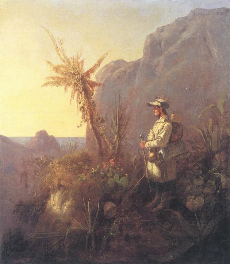 Carl Spitzweg – El Naturalista en el Trópico (ca. 1835)