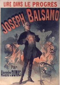 Alexandre Dumas – Joseph Balsamo, cartel publicitario de 1889
