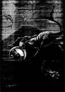 Arnould Galopin – Le Docteur Oméga, ilustración de E. Bouard (1906)