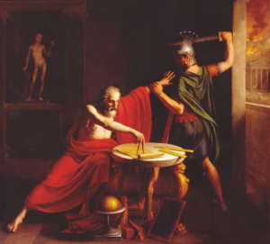 Thomas Degeorge – La Muerte de Arquímedes (1815)