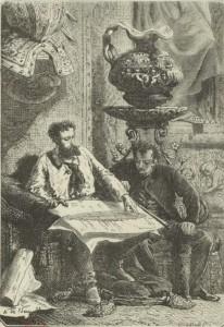Jules Verne – Vingt Mille Lieues sous les mers, ilustración de Alphonse de Neuville (1871)