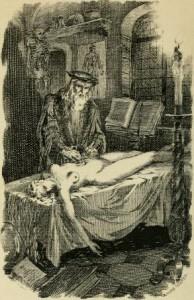 Petrus Borel – Don Andrea Vésalius, l'anatomiste, ilustración de André Hofer (1922)