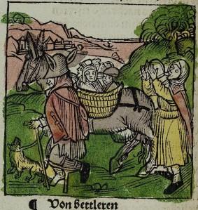 Albrecht Dürer – La Nave de los locos, La Vanidad de los Mendigos (1494)