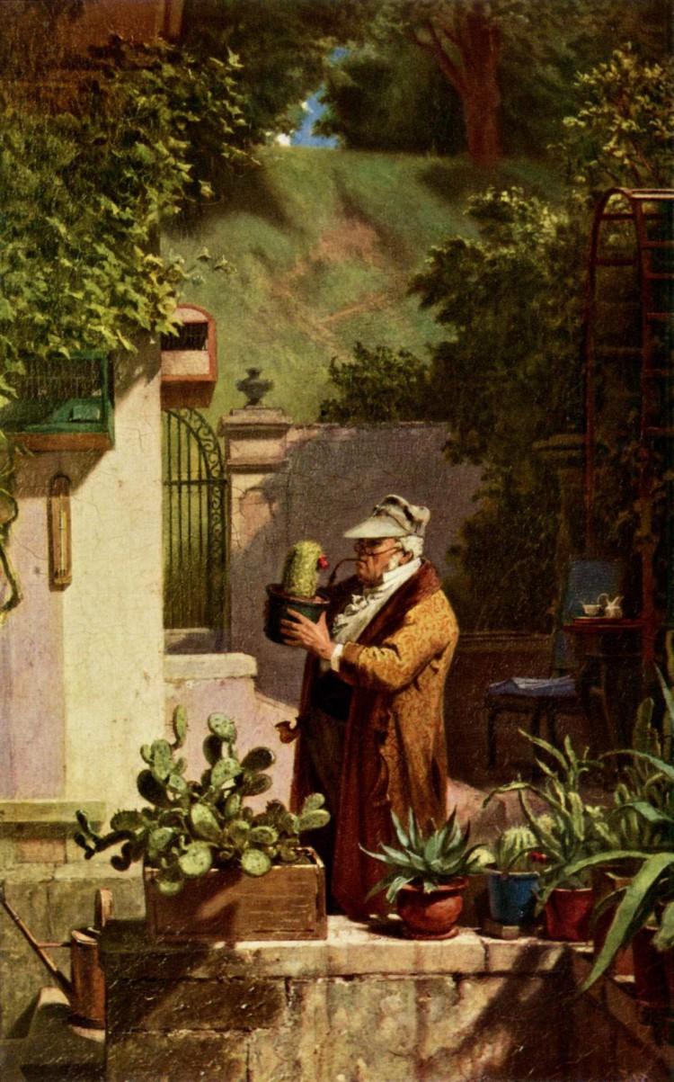 Carl Spitzweg – El Amante de los cactus (1875-1880)