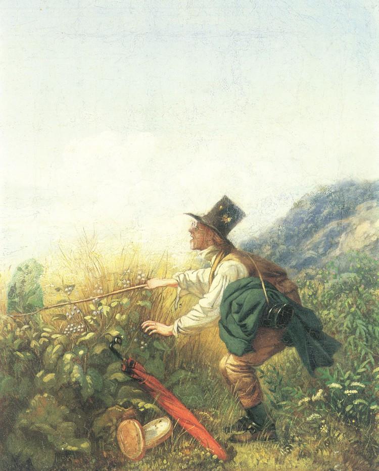 Carl Spitzweg – El Cazador de mariposas, o El Botánico (1836-1837)