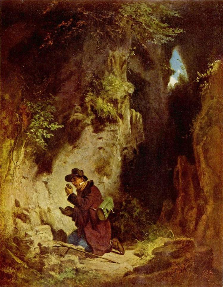 Carl Spitzweg – El Geólogo (ca. 1860)