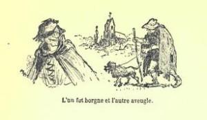 Anónimo – Du convoiteux et de l'envieux, ilustración de Albert Robida (1913)