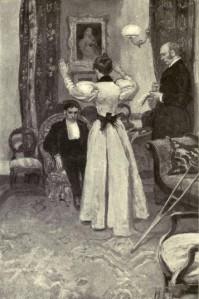 Arthur Conan Doyle – The Parasite, ilustración de Howard Pyle (1895)