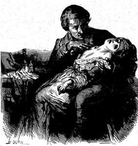 Alexandre Dumas – Le Docteur mystérieux, ilustración de Horace Castelli (18??)