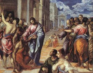 El Greco – La Curación del ciego (157?)