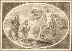 Esopo - El Avaro y el Envidioso, ilustración de Thomas Bewick (1818)