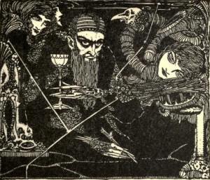 Johann Wolfgang von Goethe – Faust, ilustración de Harry Clarle (190?)