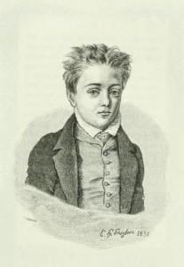 Un jovencísimo Gustave Flaubert