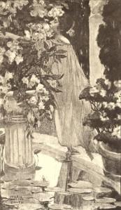 Nathaniel Hawthorne – Rappaccini's Daughter, ilustración de una edición americana de 1900