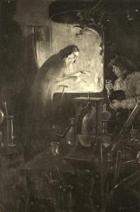 Nathaniel Hawthorne – The Birth-Mark, ilustración de una edición americana de 1900