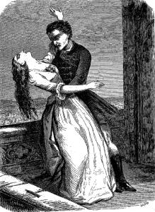 Ernst Theodor Amadeus Hoffmann – Der Sandmann, ilustración de Jules David para la edición francesa de 1853
