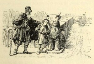 Lazarillo de Tormes, ilustración de Maurice Leloir (1886)