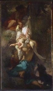 Jean-François Millet – Edipo descolgado del árbol (1847)