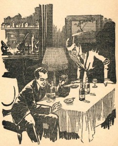 Fitz-James O'Brien – The Diamond Lens, ilustración de la revista Amazing Stories (1926)