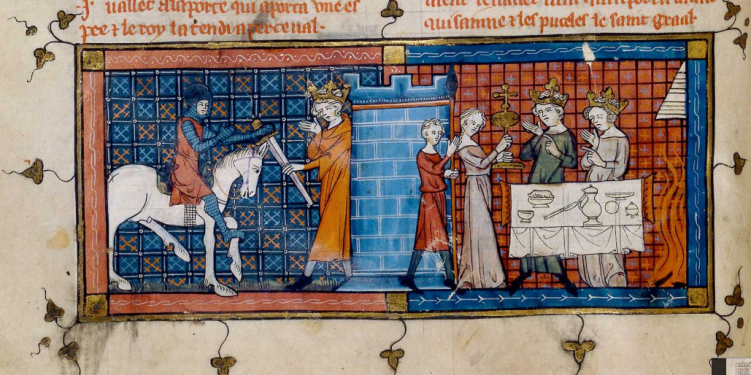 Chrétien de Troyes - Perceval ou Le Conte du Graal, manuscrito del S. XIV
