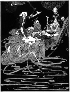 Edgar Allan Poe - The System of Doctor Tarr and Professor Fether, ilustración de Harry Clarke (1919)